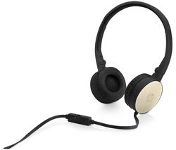 HP H2800 Stereo Headset - Black & Gold