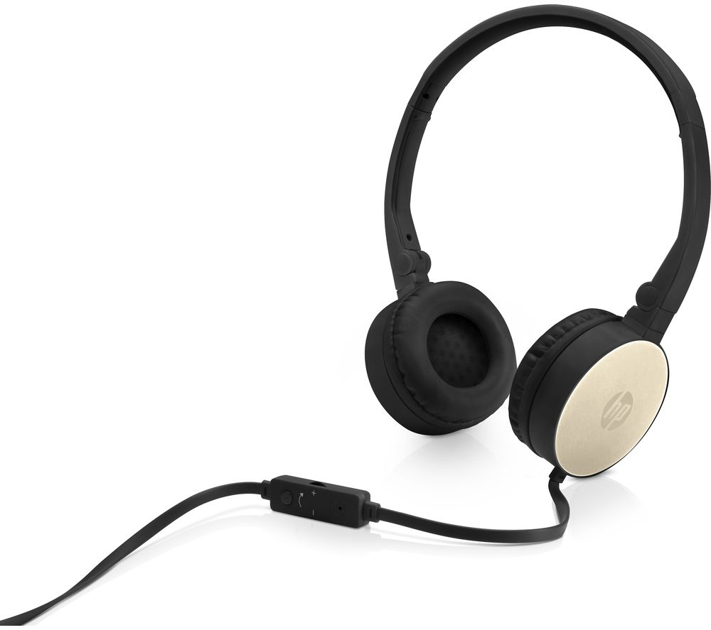 Image of H2800 Stereo Headset - Black & Gold, Black