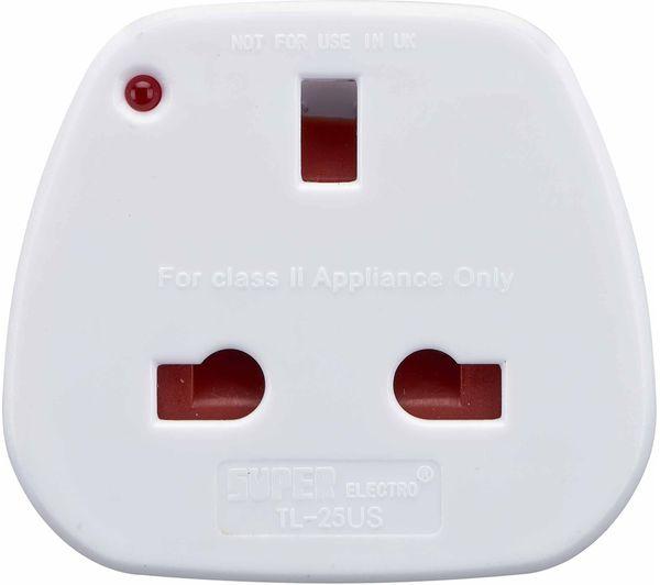 Image of LOGIK LUKUS20 UK to US Travel Plug Adapter