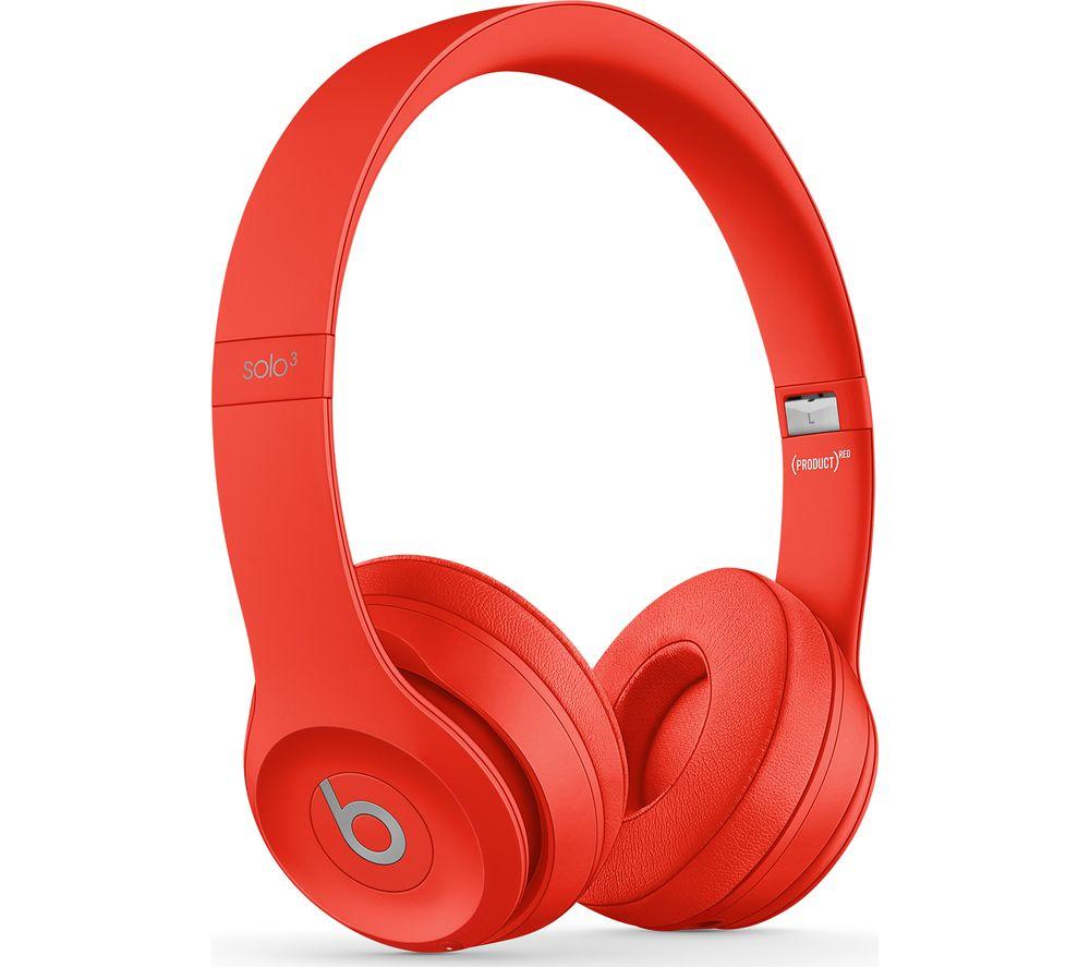 BEATS Solo 3 Wireless Bluetooth Headphones - Red