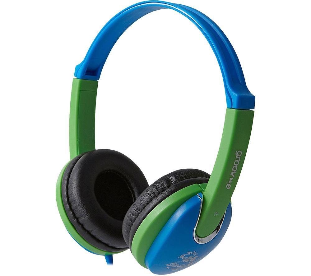 GROOV-E KIDDIEZ GV-591-BG Kids Headphones - Blue & Green