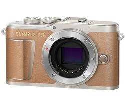 PEN E-PL9 Mirrorless Camera with 32 GB SD Card - Brown, Body Only