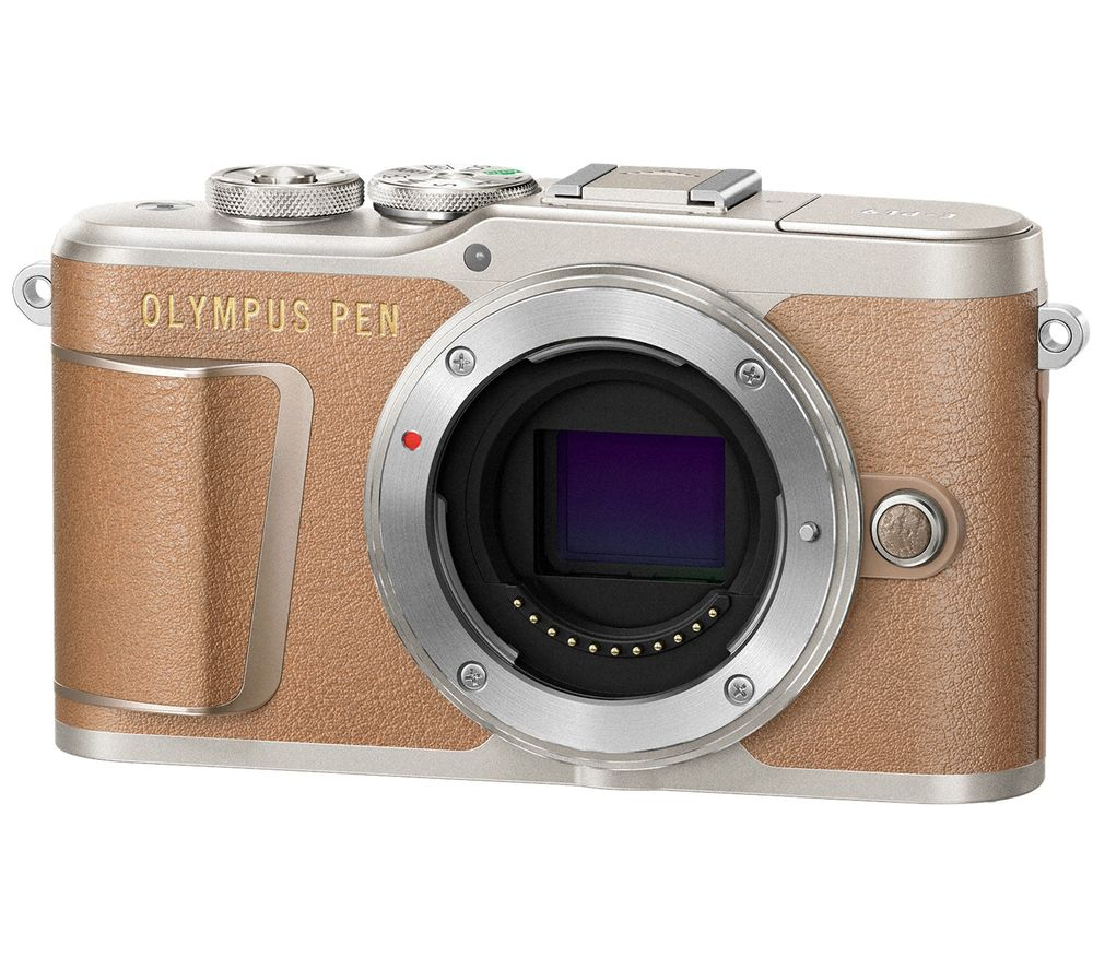 Image of OLYMPUS PEN E-PL9 Mirrorless Camera with 32 GB SD Card - Brown, Body Only, Brown