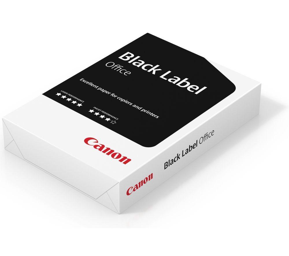 CANON Black Label Office PEFC A4 Matte Paper - 500 Sheets, Black