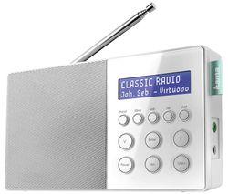DR10 Portable DAB+/FM Radio - White