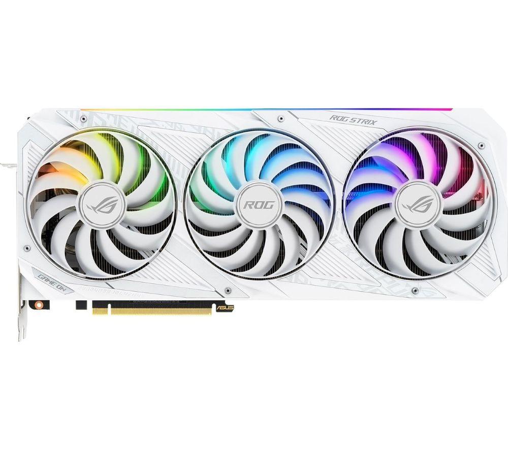ASUS GeForce RTX 3090 24 GB ROG Strix GAMING OC Graphics Card - White