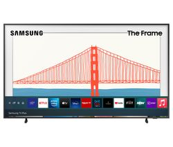 "The Frame QE32LS03TCUXXU 32"" Smart Full HD HDR QLED TV with Bixby, Alexa & Google Assistant - Black"