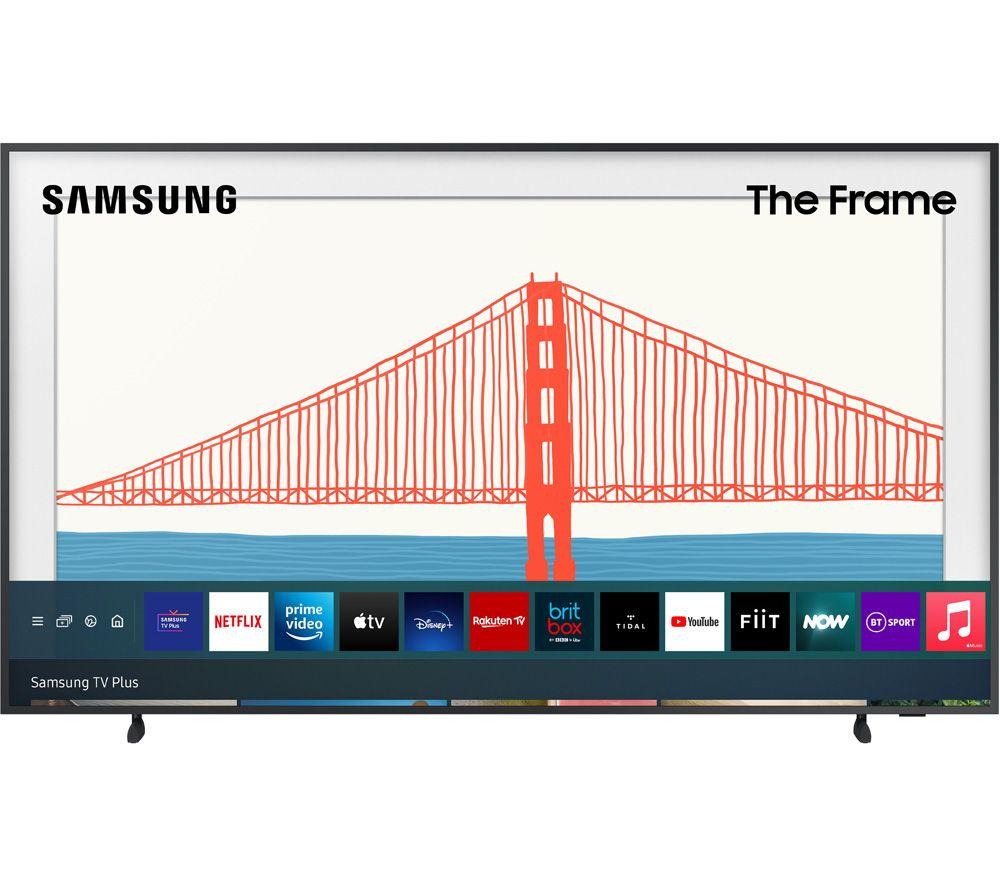 "SAMSUNG The Frame QE32LS03TCUXXU 32"" Smart Full HD HDR QLED TV with Bixby, Alexa & Google Assistant - Black"