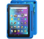 £139.99, AMAZON Fire HD 8inch Kids Pro Tablet (2021) - 32 GB, Intergalactic, Fire OS 7, HD Ready screen, 32GB storage: Perfect for apps / photos / videos, Battery life: Up to 12 hours, Add more storage with a microSD card,