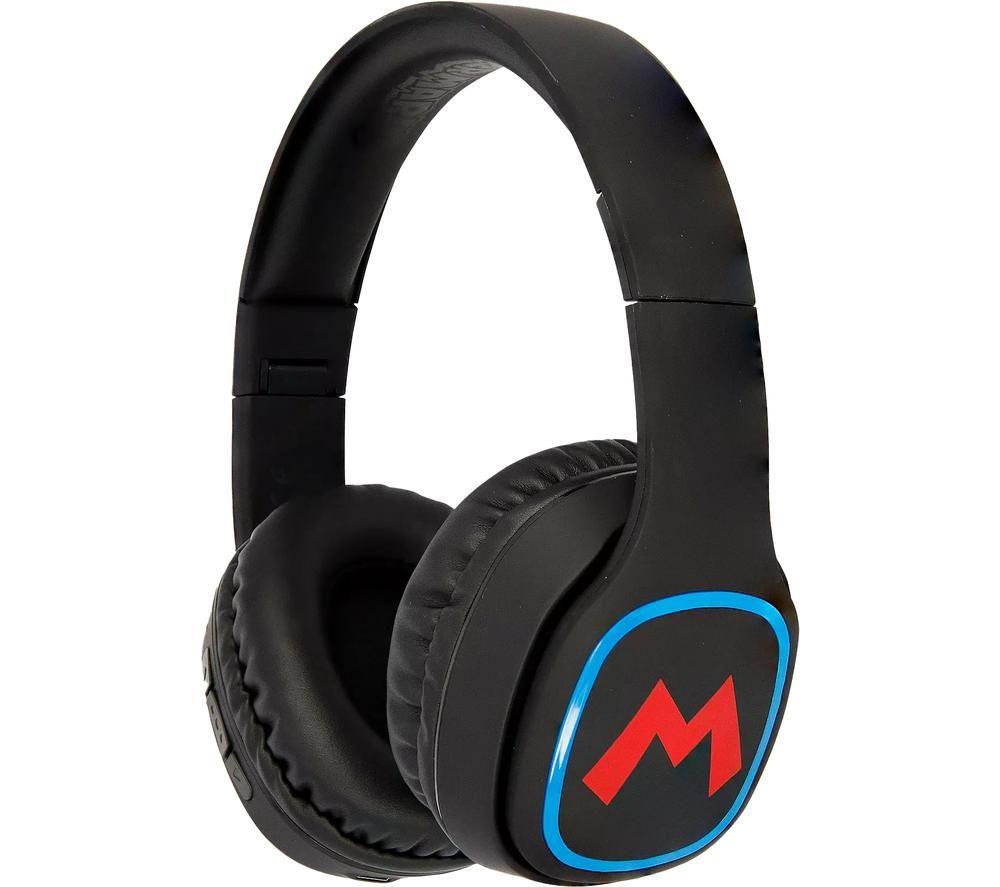 OTL Super Mario SM0698 Wireless Bluetooth Kids Headphones - Black