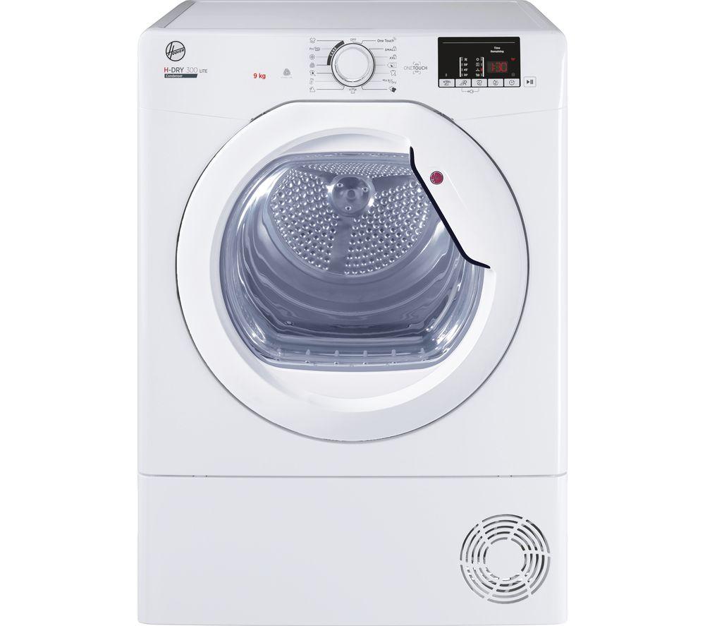 HOOVER H-Dry 300 HLE C9DG WiFi-enabled 9 kg Condenser Tumble Dryer - White, White