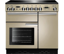 RANGEMASTER Professional+ 90 Electric Ceramic Range Cooker - Cream & Chrome