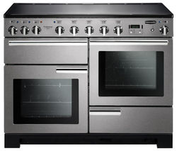 RANGEMASTER Professional Deluxe 110 Electric Induction Range Cooker - Stainless Steel & Chrome