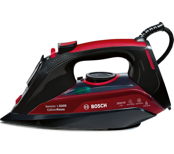 Image of BOSCH Sensixx TDA5070GB Steam Iron - Black & Red