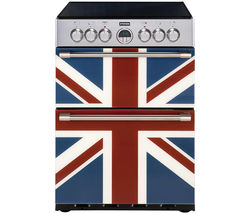 STOVES Sterling 600E Electric Ceramic Cooker - Union Jack Best Price, Cheapest Prices
