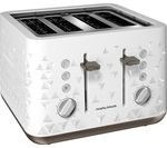 MORPHY RICHARDS Prism 248102 4-Slice Toaster – White