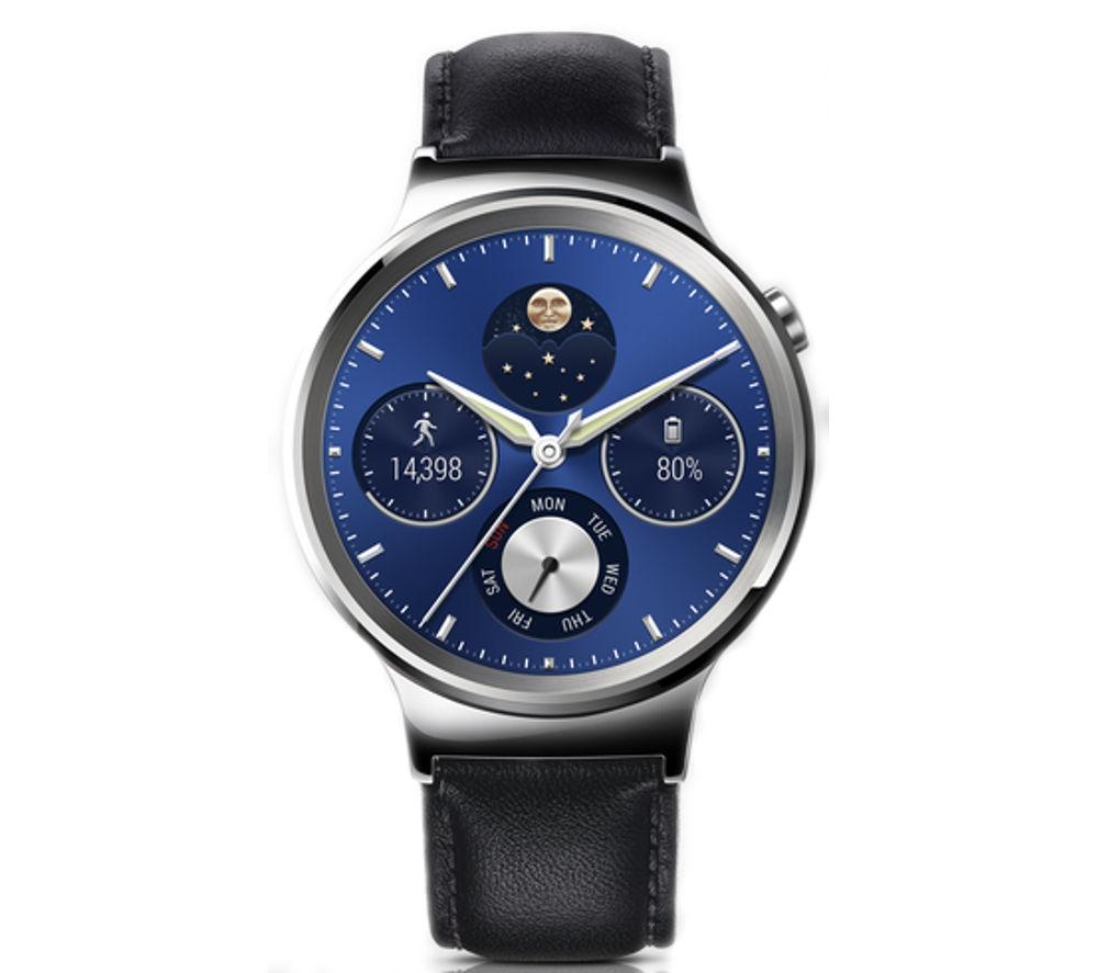 huawei smartwatch. huawei classic smartwatch - black, leather strap huawei m