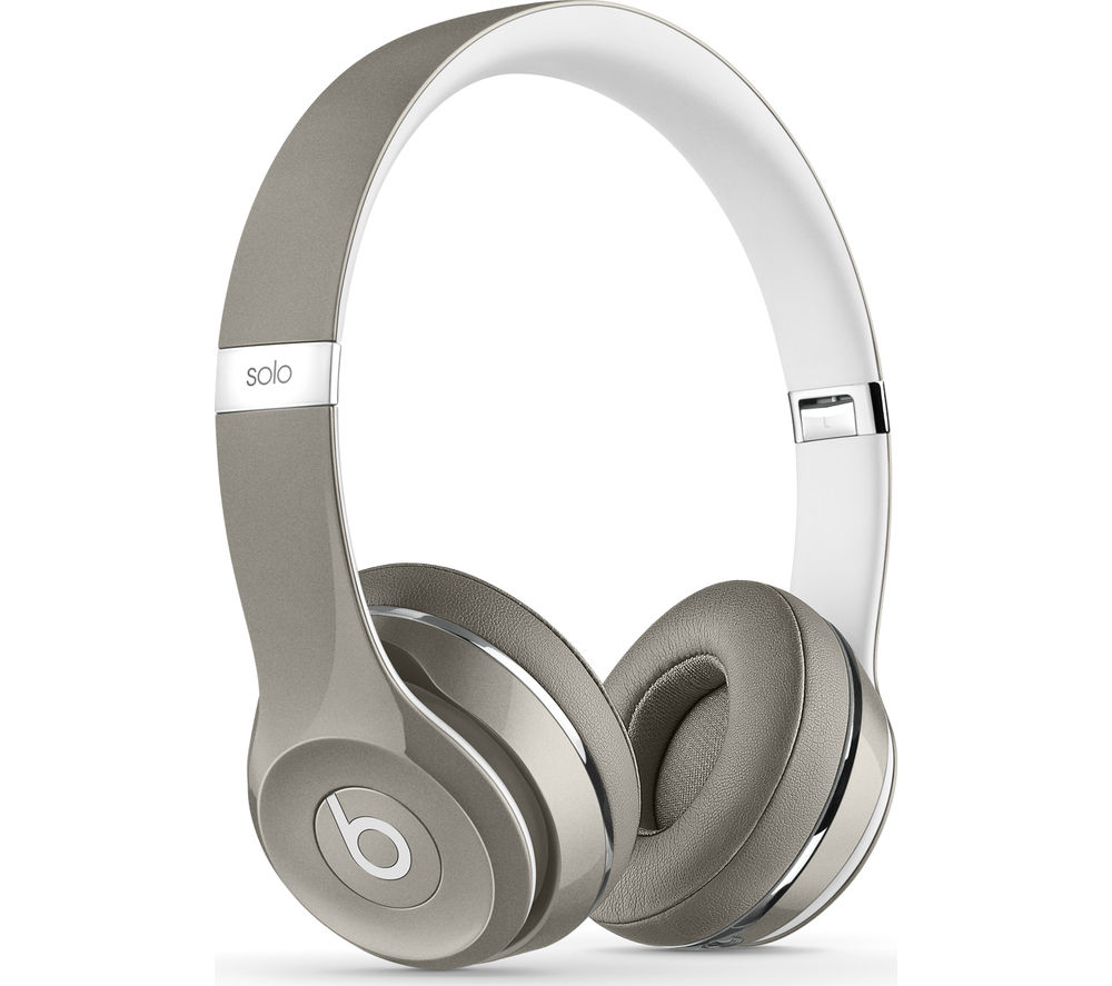 Image of BEATS Solo 2 Headphones - Luxe Edition, Silver, Silver