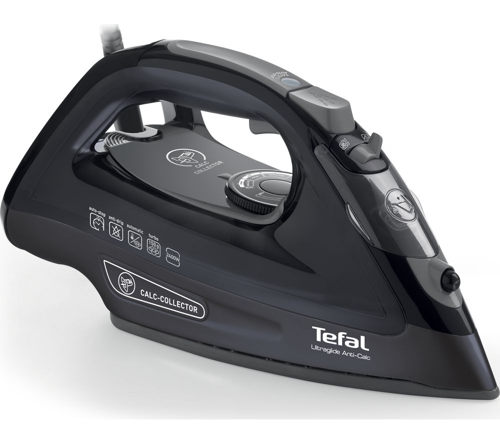 TEFAL Ultraglide Anti-Scale FV2660 Steam Iron - Black