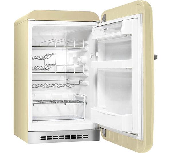 smeg fab10hrp mini fridge cream