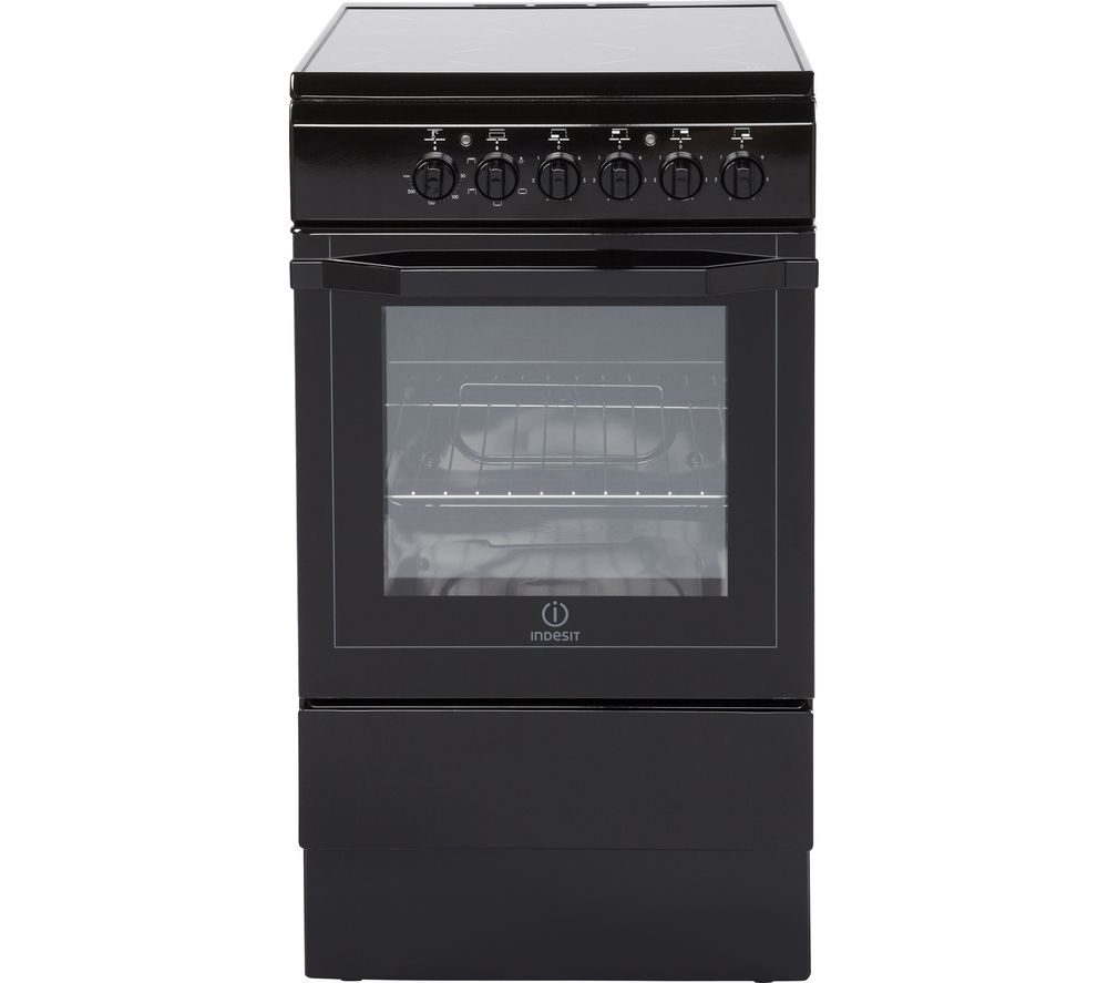 INDESIT I5VSH K UK 50 cm Electric Ceramic Cooker - Black