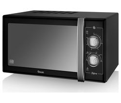 SWAN Retro SM22070BN Solo Microwave - Black Best Price, Cheapest Prices
