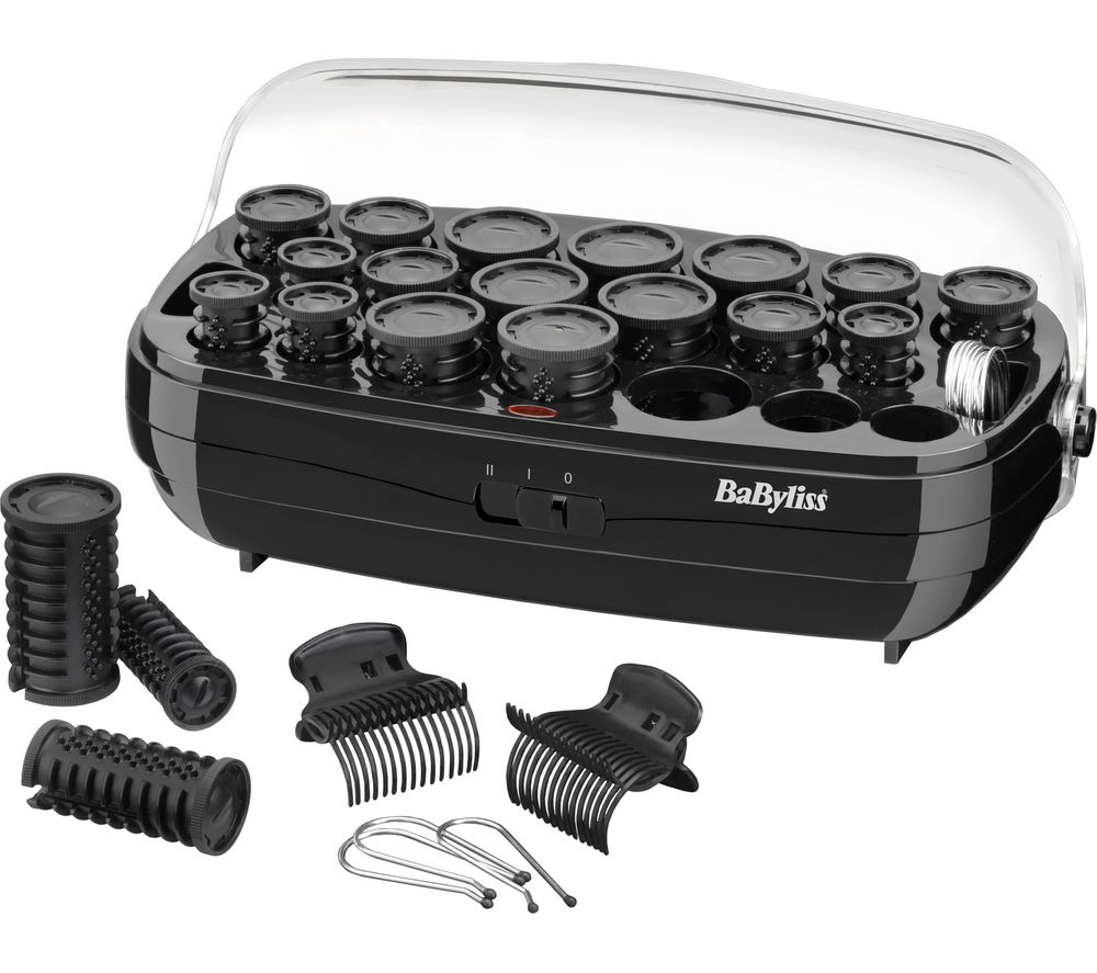 Image of BABYLISS Thermo BAB3045 Ceramic Rollers - Black, Black