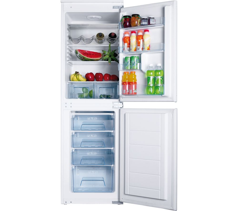 AMICA BK296.3FA Integrated Fridge Freezer - White, White