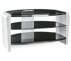 ALPHASON Francium 800 TV Stand - White & Smoked Glass