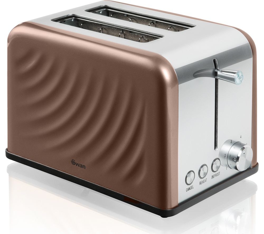 SWAN ST19010TWN 2-Slice Toaster - Copper Twist