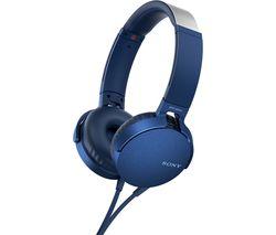 SONY Extra Bass MDR-XB550AP Headphones - Blue