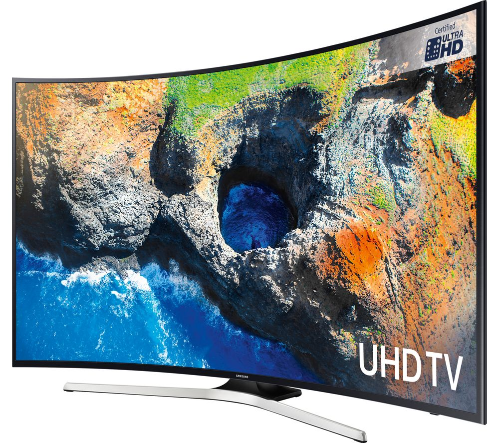 "SAMSUNG UE55MU6200 55"" Smart 4K Ultra HD HDR Curved LED TV + SFLEZ14 Medium to Large Fixed TV Bracket"