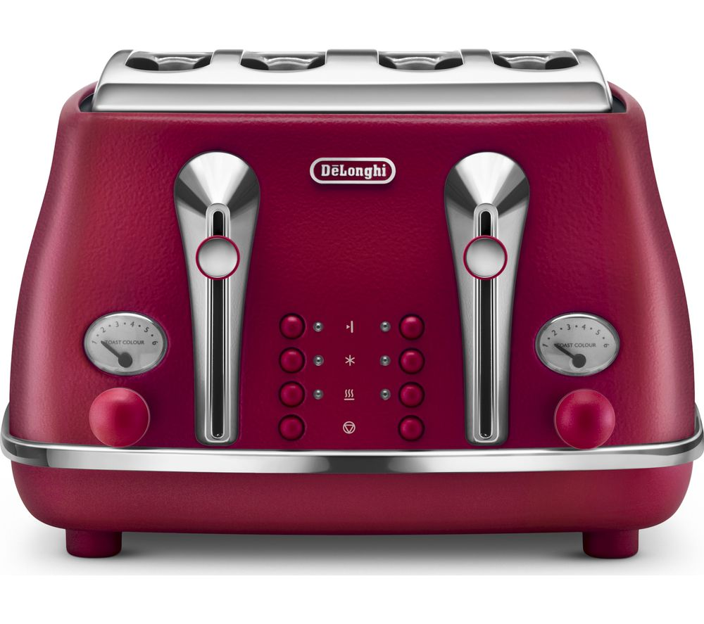 buy delonghi elements ctoe4003 r 4 slice toaster red free delivery currys. Black Bedroom Furniture Sets. Home Design Ideas