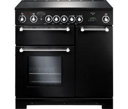 RANGEMASTER Kitchener 90 Electric Ceramic Range Cooker - Black