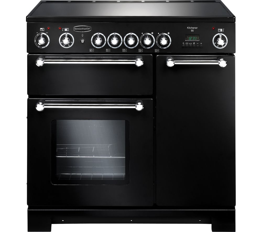 RANGEMASTER Kitchener 90 Electric Ceramic Range Cooker - Black