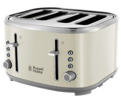 RUSSELL HOBBS Bubble 24411 4-Slice Toaster - Cream