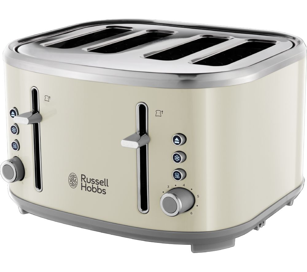 RUSSELL HOBBS Bubble 24411 4-Slice Toaster - Cream