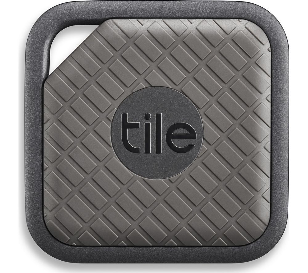 TILE Sport Bluetooth Tracker - Graphite + Echo - Heather Grey Fabric