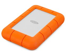 LACIE Rugged Mini Portable Hard Drive for Mac - 2 TB, Orange & Silver