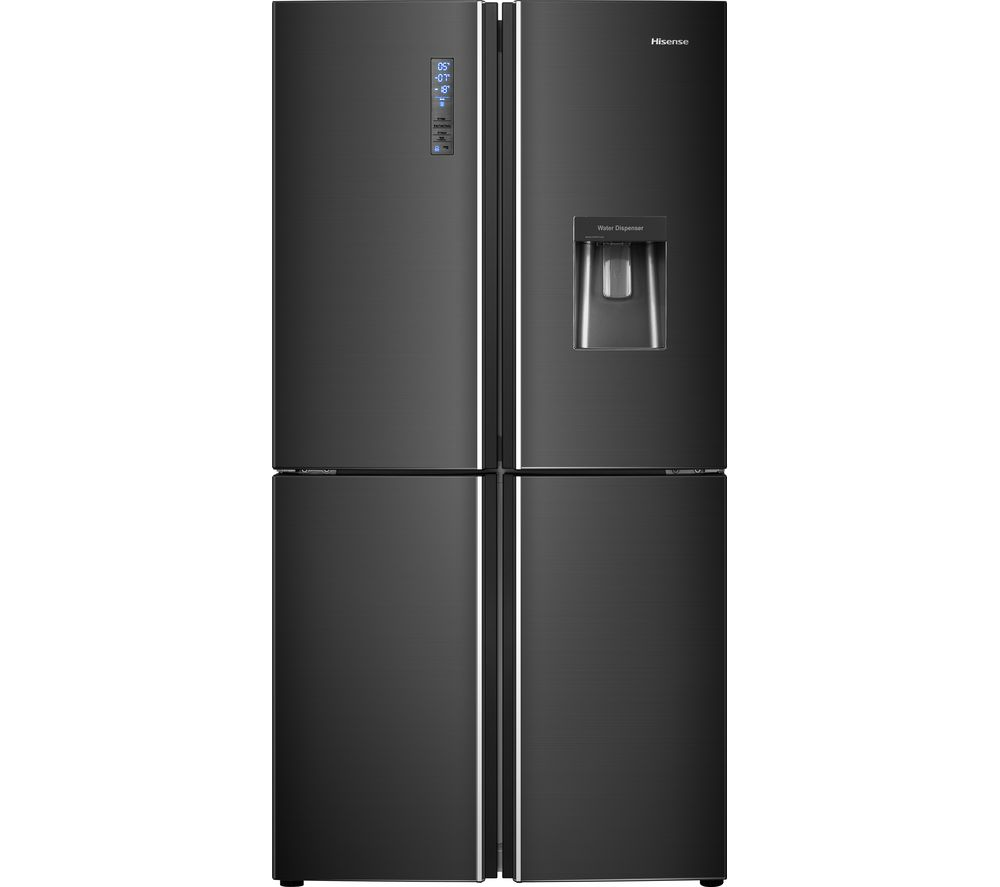 buy hisense rq689n4wf1 fridge freezer black steel free. Black Bedroom Furniture Sets. Home Design Ideas