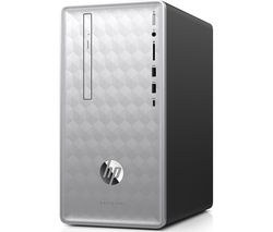 HP Pavilion 590 AMD Ryzen 3 Desktop PC - 1 TB HDD, Silver