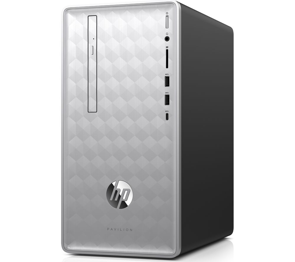 HP Pavilion 590 AMD Ryzen 3 Desktop PC - 1 TB HDD, Silver + Office 365 Personal - 1 year for 1 user + LiveSafe Premium 2018 - 1 year for unlimited devices