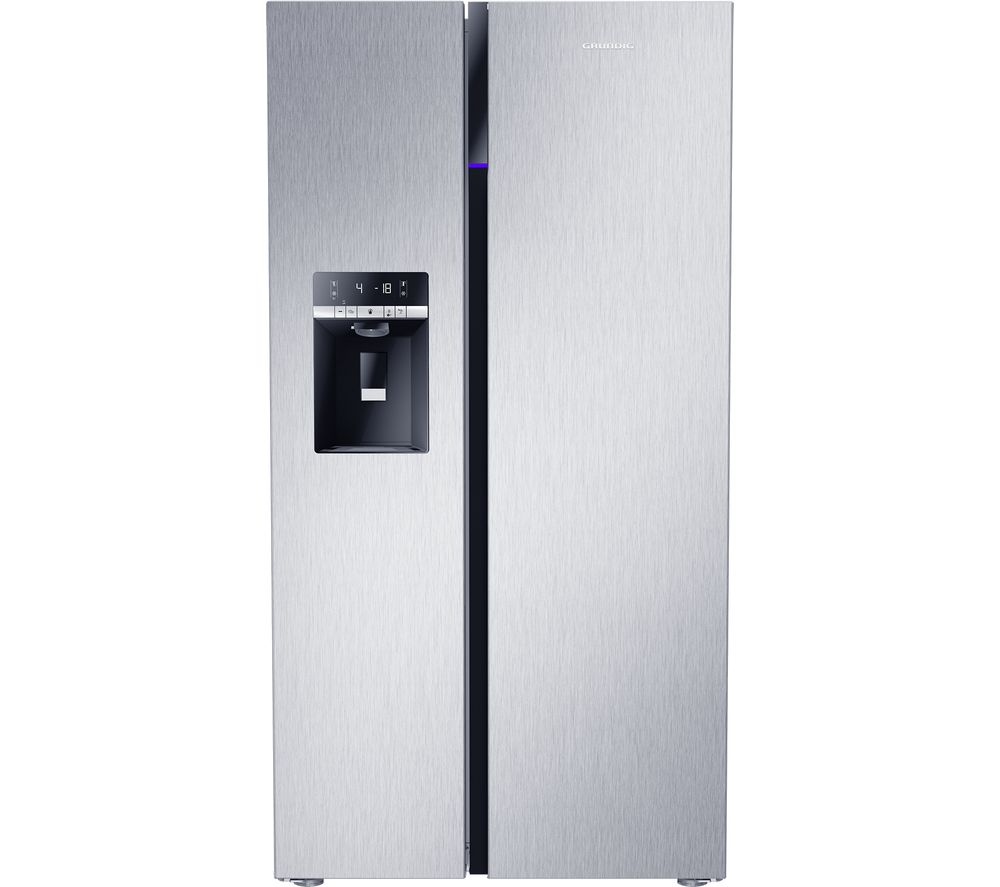 GRUNDIG GSBS16312X American-Style Fridge Freezer - Stainless Steel