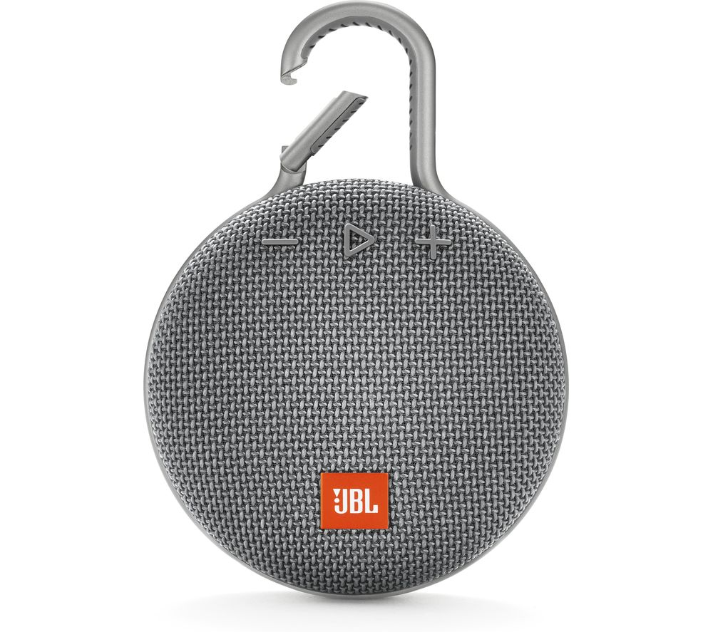 JBL Clip 3 Portable Bluetooth Speaker - Grey, Grey