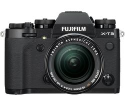 X-T3 Mirrorless Camera with FUJINON XF 18-55 mm f/2.8-4 R LM OIS Lens - Black
