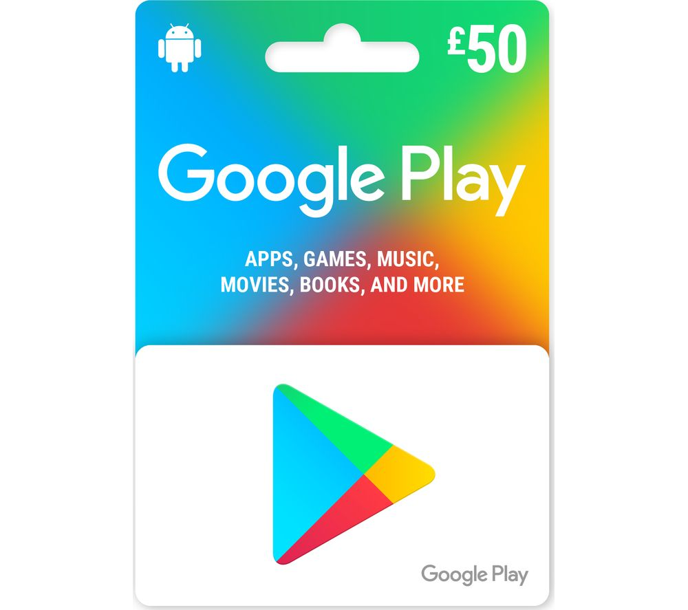 Currys Gift Card Balance >> Buy Google Play Gift Card 50 Free Delivery Currys