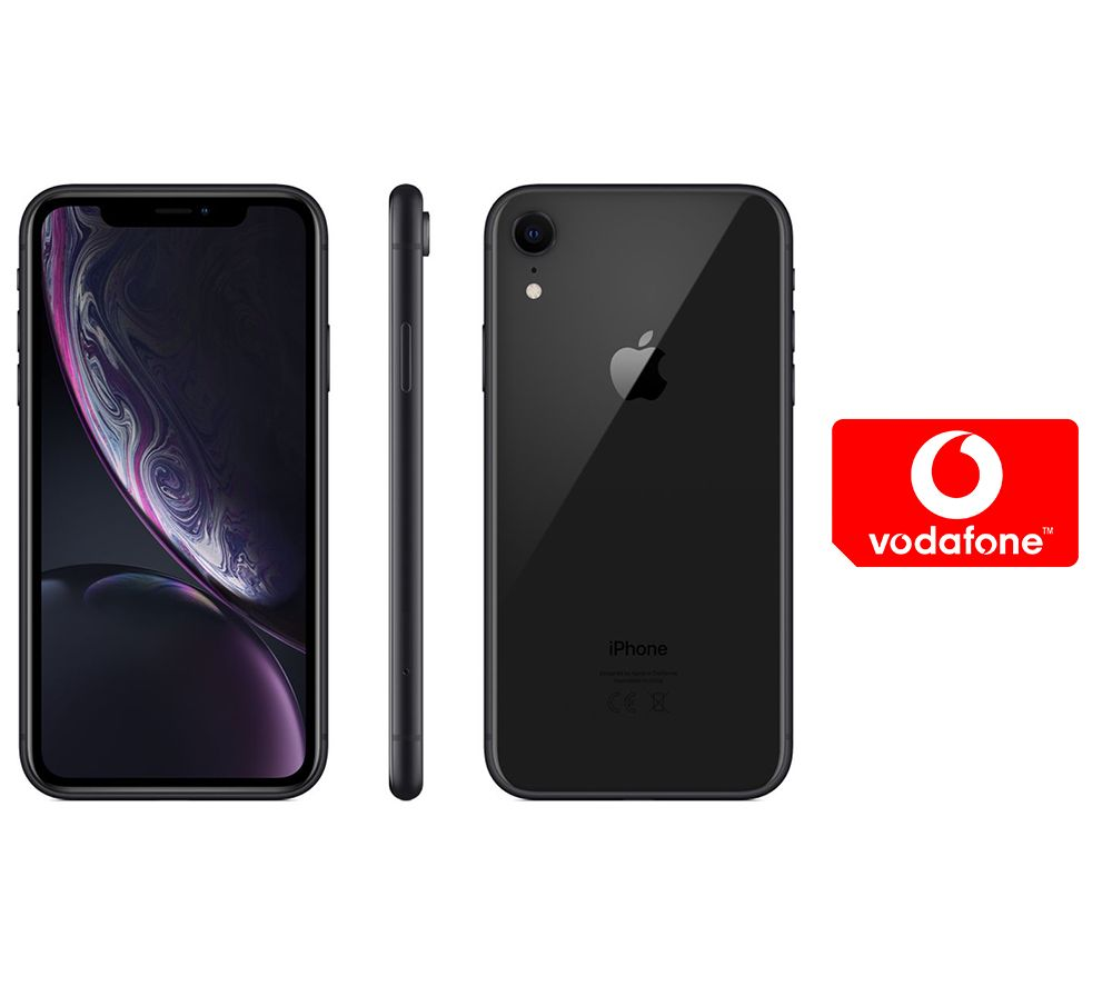 APPLE iPhone XR & Pay As You Go Micro SIM Card Bundle - 64 GB, Black, Black cheapest retail price