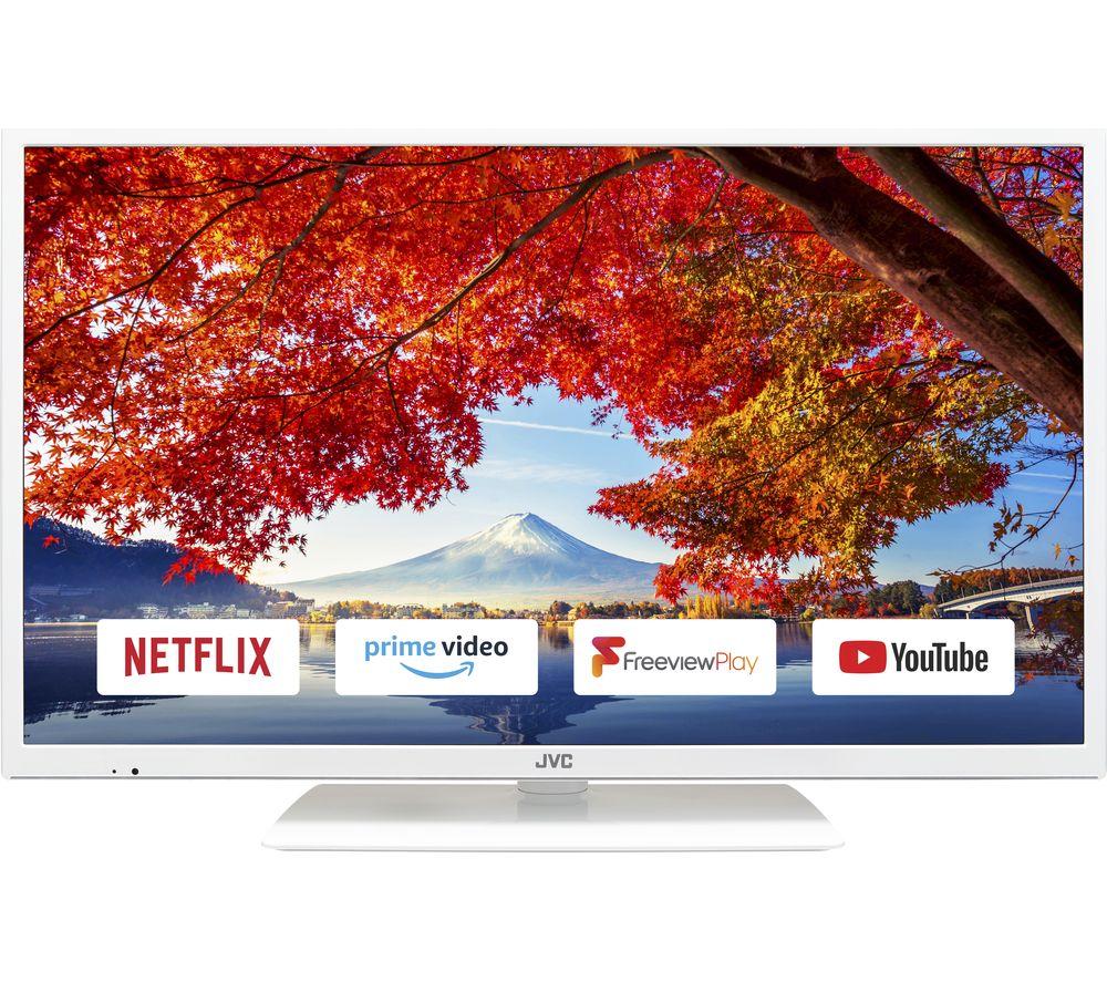 32″  JVC LT-32C691  Smart LED TV – White, White