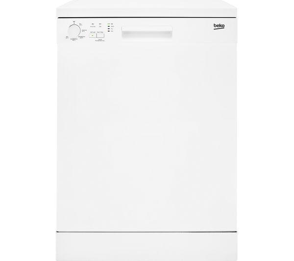 Image of BEKO DFN05310W Full-size Dishwasher - White