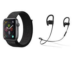 APPLE Watch Series 4 - Space Grey & Black Sports Loop, 44 mm